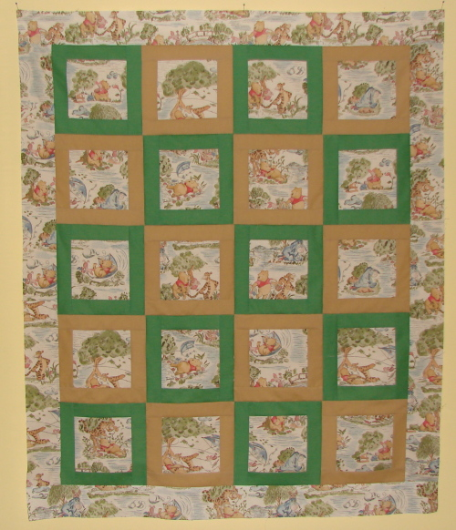 Winnie the Pooh Baby Quilt Top - FabricMomFabricMom : winnie the pooh baby quilt - Adamdwight.com