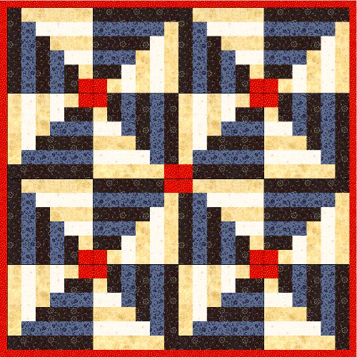 free log cabin quilt pattern Archives - FabricMomFabricMom
