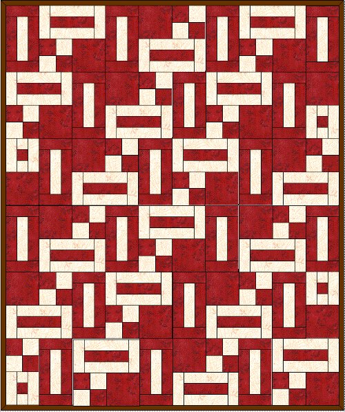 Two Color Strip Quilt Pattern Fabricmomfabricmom